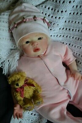 Sweet Reborn Baby GIRL Doll POPPY was Morgan by Aleina Petersen COMPLETED