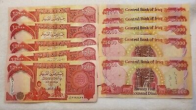 10 25,000 IRAQI DINAR BANKNOTES AUTHENTIC IQD- FAST DELIVERY 250,000 DINAR