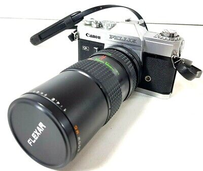 Canon Pellix Vintage Camera With Flexar Auto Zoom MC Lens 80-200mm SELLING AS IS