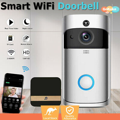 Smart Wireless Doorbell Camera Video Phone WiFi intercom Door Bell Ring HD AU