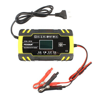 12V 24V Pulse Repairing Charger with LCD Display Motorcycle & Car Battery X5E2