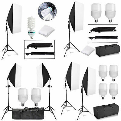 Photography Photo Softbox Studio Continuous Video Lighting Soft Box Light Kit AU