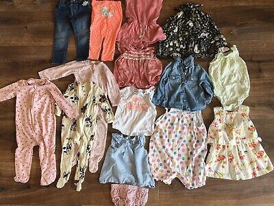 Mixed Girls Bundle 12-18 Months / Size 1 GUC Spring / Summer