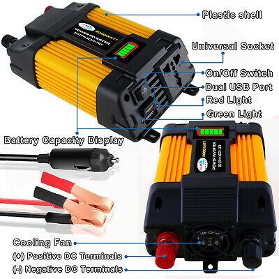 Peaks Power 4000W 12V DC TO 110V 220V AC Car Power Inverter Solar Converter