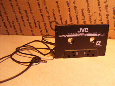 JVC CA-RC4 CASSETTE ADAPTER AUDIO Cassette Tape Adapter.  Working
