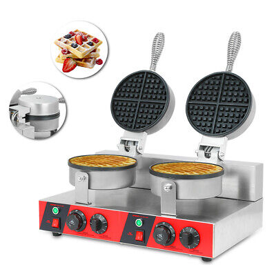 Electric Double Waffle Maker - Belgian Waffle Machine Stainless Steel Non-Stick