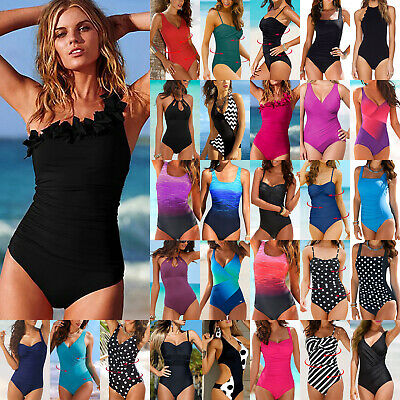 Women Tummy Control Monokini One-piece Swimwear Beach Swimsuit Bathing Costume
