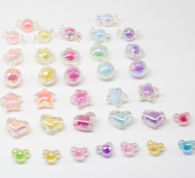 20X candy color star/love heart/Mickey bead Beading hair accessories Accessories