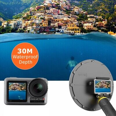 For DJI Osmo Action 30 Meter Underwater Diving Dome Port+Hand Rope Set Holiday