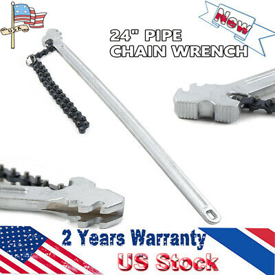 "Hot ! Heavy Duty Chain Wrench 24"" Handle 6.7"" Diameter Pipe Chain Pipe Wrench"