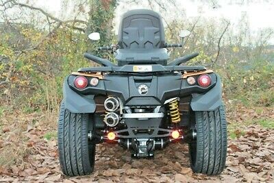 QJC BOS Doppelauspuffanlage Can-am Auspuff Outlander Renegade QUAD ATV