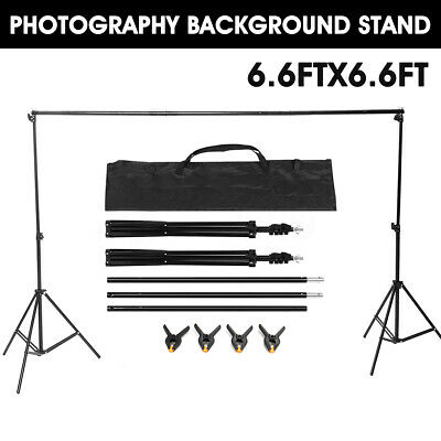 Adjustable Photography Photo Background Backdrop Support Stand Kit 6.6ft x6.6ft