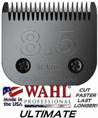 """Wahl Ultimate Concours 8 1/2 Lame 1/8 """" -3mm Fitmany Andis , Oster, Laube Ongle"""
