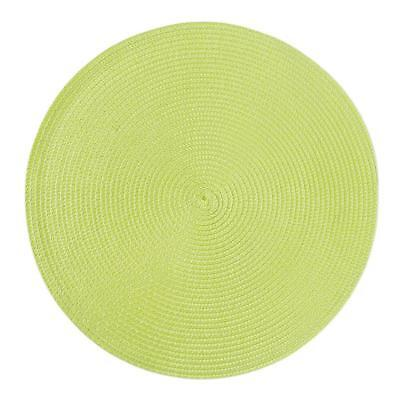 Non Slip Placemats Kitchen Dining Western Table Mats Round PP Weaved Pad T