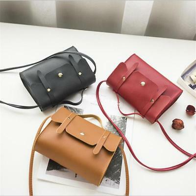 Portable Square Bag Fashion Lady Clamshell Button Tote Shoulder Bag Pouch T
