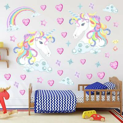 Home Decor Childrens Pink Love Heart Wall Stickers ...