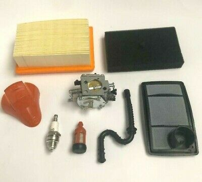 Service Kit Fits STIHL TS400 Carb, Air Filters Filter,Hose, Plug And Cover