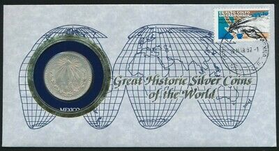 Mexico 1997 1 x 0.3857oz Silver 1933 Peso PNC Great Historic Coins of the World