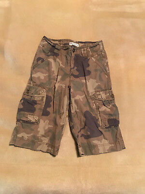Boys Marks & Spencer Indigo Camouflage Cargo Shorts Aged 10 Good Condition