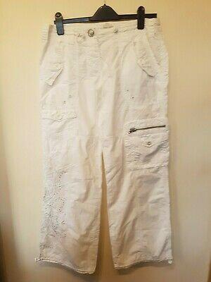River Island Cotton White Trousers size 12