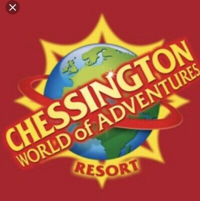 Chessington World Of Adventures Resort Tickets X2 For Wed.4Th Sept 2019