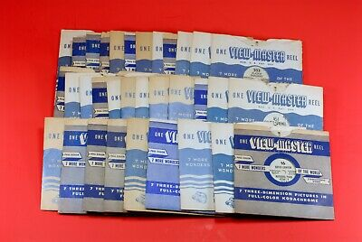 Vintage Sawyer's 3D Viewmaster Viewer With 33 Vintage Reels - Owned Since 1949