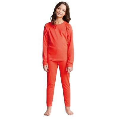Dare2b Cool Off III Kids Girls Quick Drying Thermal Base Layer Set Coral