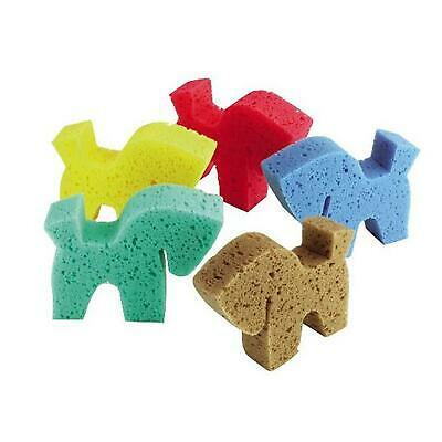 Horse Shaped Grooming Sponges Kids Children Equestrian Horse New Pony Fun Clean