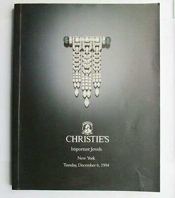 Christie's Auction Catalogue - Important Jewels New York 1994