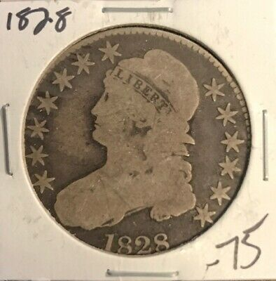 1828 Caped Bust Half Dollar F (HB:2)