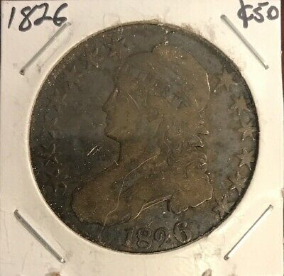 1826 Capped Bust Half Dollar F (HB:3)