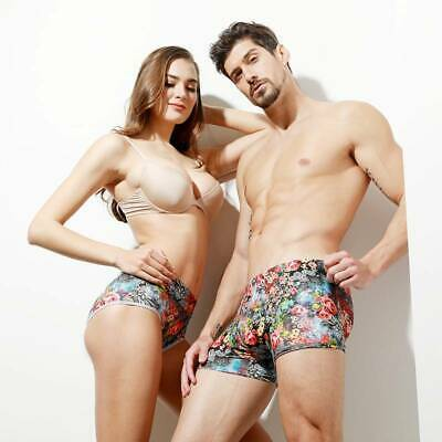 Mens Women Couple Seamless Underwear Boxer Briefs Shorts Breathable Underpants