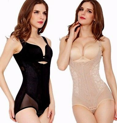 Womens Full All in One Piece Tummy Trimmer Firm Control Body Shaping Bodysuit UK