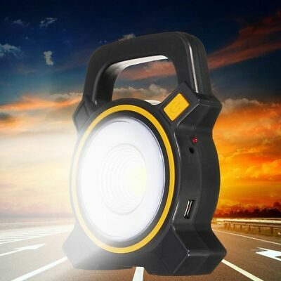 Outdoor 30W LED USB Charging Solar Rechargeable Flood Light Portable Spot Lamp