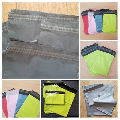 Co-ex Coloured Mailing Bags Plastic Postage Post Postal Poly Strong Self Seal