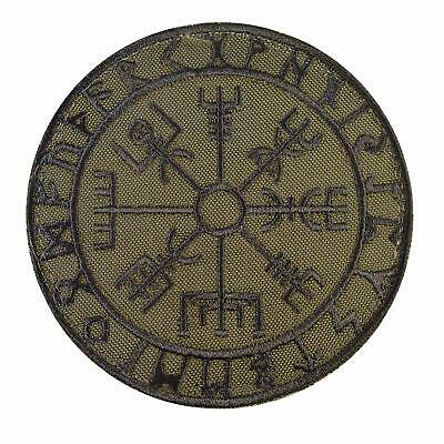 LEGEEON Olive Drab Vegvisir Viking Compass OD Green Norse Rune Morale Tactical T