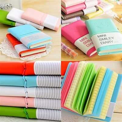 Colorful Mini  Diary Pocket Notebook Journal Memo Free Note Stationary EL