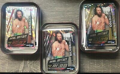 WWE Slam Attax Universe Mini Tin 30 cards With Gold Silver Bronze Daniel Bryan