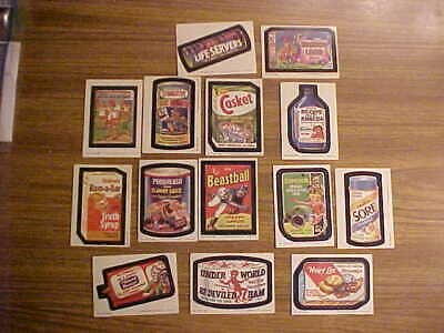 LOT: 14 of 66 1980 Series 3 Wacky Packages Sticker Trading Cards Vintage Topps