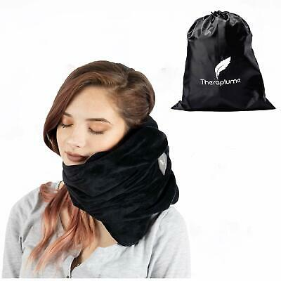 Theraplume Travel Pillow Premium Memory Foam Scarf Pillow with Ultra Plush Co...