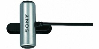 Sony Tie Clip Microphone ECM-CS3 Silver **Open Box New Other**
