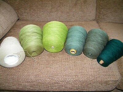3.1 KGS  of CONES of KNITTING YARN / Hobby / Crafts