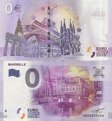 "Billete 0 euros ""MARSEILLE"" serie 2016"