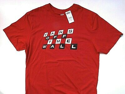 New Vans Off the Wall Men's Sz L Graphic Cotton Short Sleeve Red Shirt