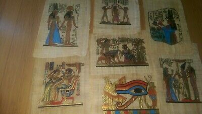 "Wholesale Lot of 30 Egyptian PAPYRUS Hand Painted Art 20x30Cm (8x12"")"
