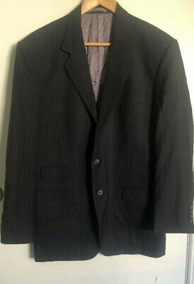 Preowned Men's Maxwell's Clothier Bespoke Dark Blue Pinstripe Long Pant Suit