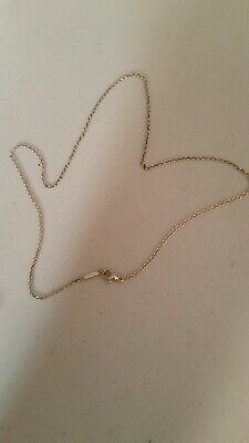 """Authentic Tiffany & Co Sterling Silver 16"""" Inch Chain Necklace"""