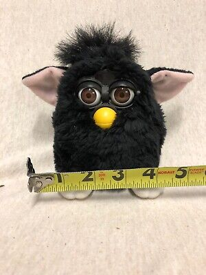 1998 Tiger Electronics FURBY ALL BLACK BROWN EYES PINK EARS Model 70-800 LOT