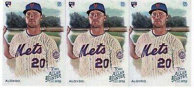 2019 Topps Allen & Ginter Pete Alonso RC Lot of (3) Cards New York Mets