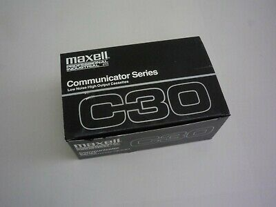 Maxell C60 Professional Communicator Series Blank Cassette Tapes 10 Pack NEW!